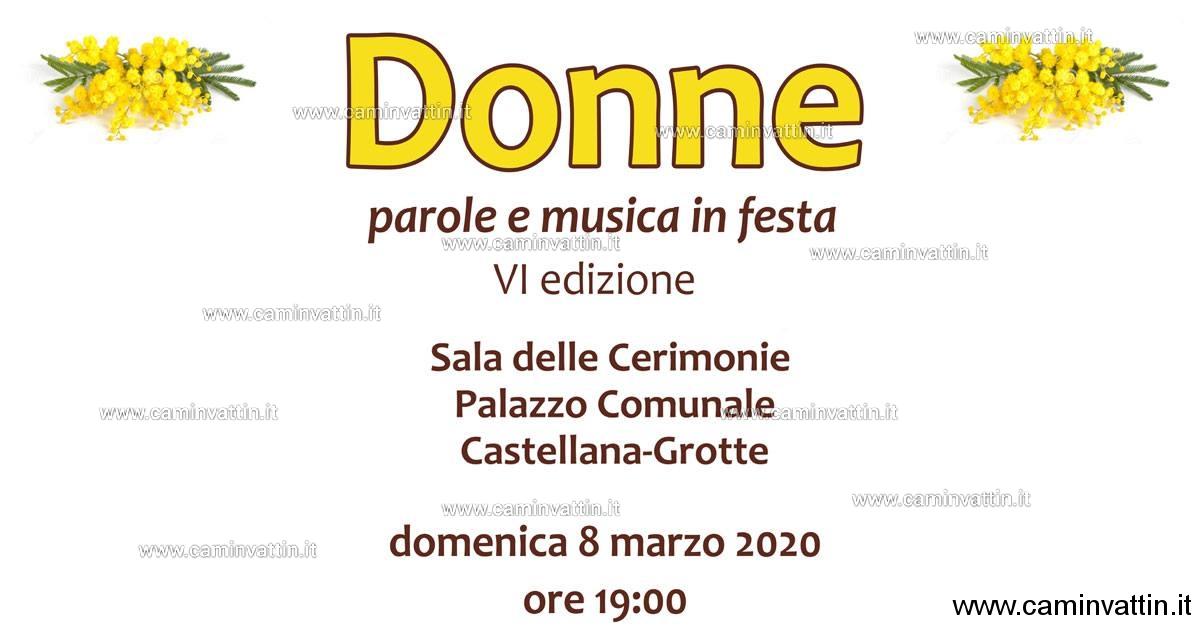 donne parole e musica in festa 2020 castellana grotte