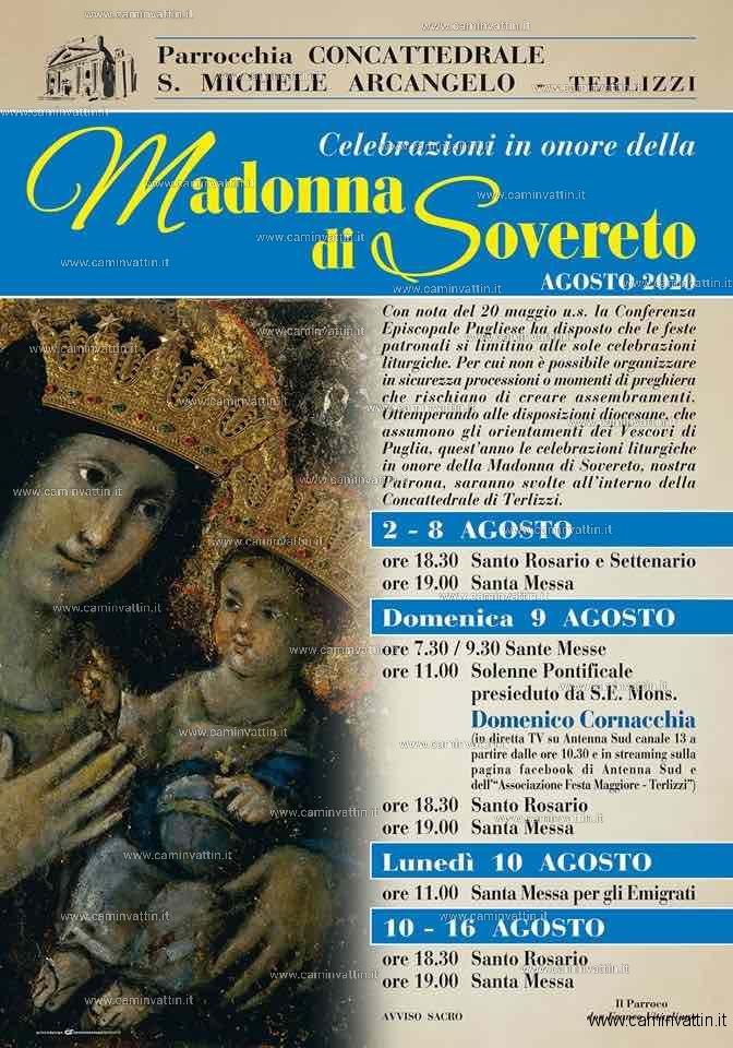 festa maggiore 2020 madonna sovereto terlizzi
