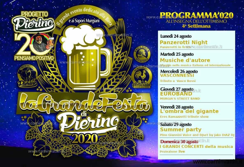 programma 4 festa della birra cassano 2020