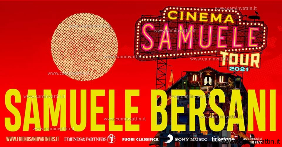 cinema samuele bersani tour 2021