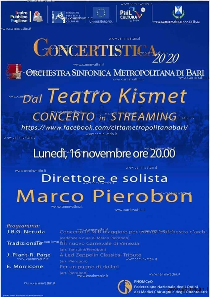 concerto in streaming teatro kismet bari