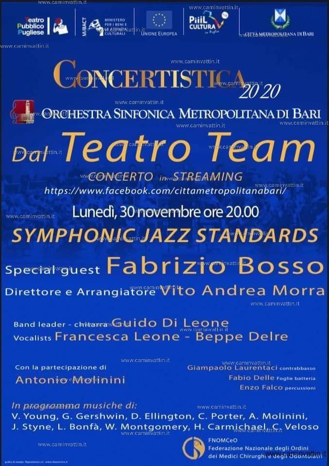 concerto teatro team streaming