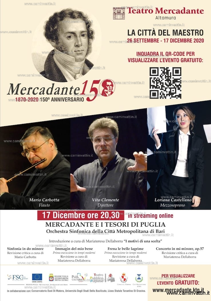 concerto streaming omaggio saverio mercadante