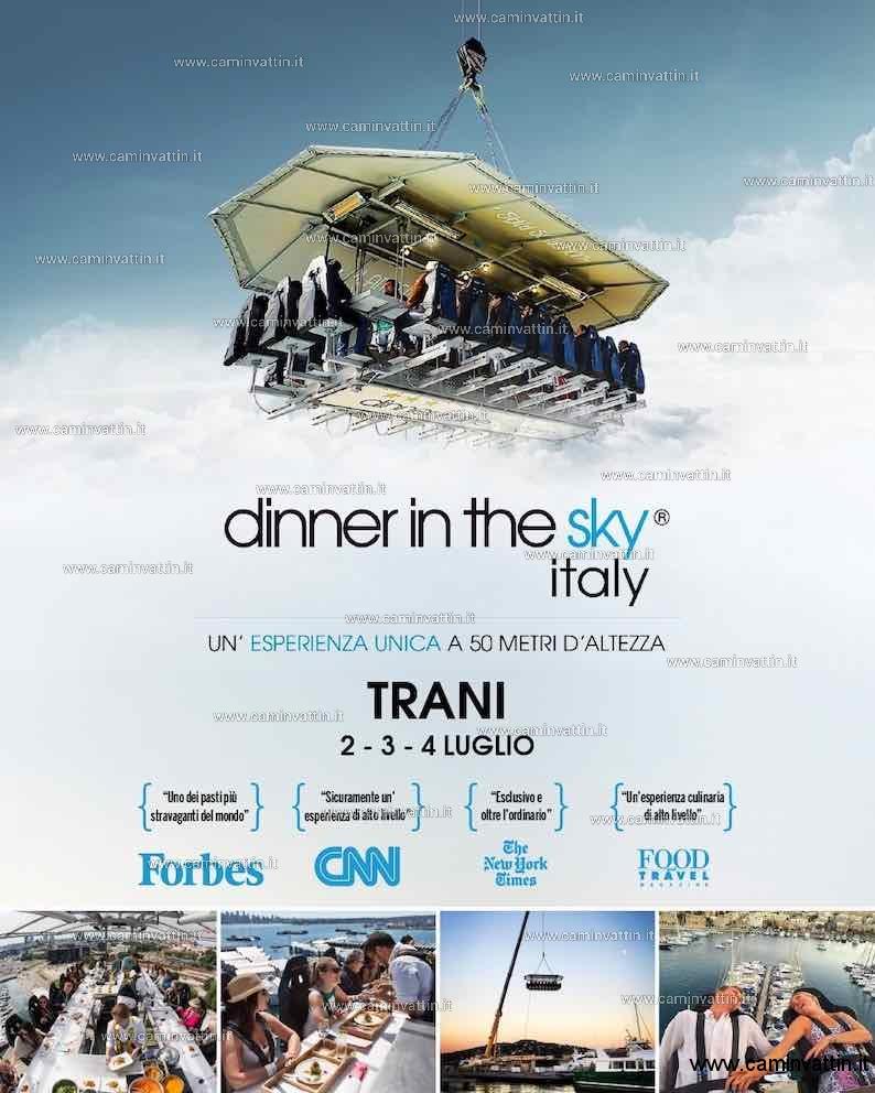 dinner in the sky italy trani