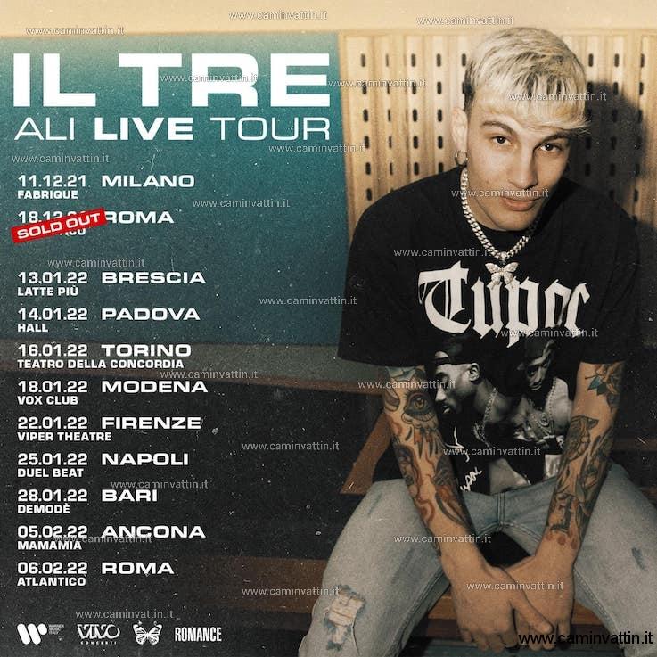 Il Tre in concerto al Demode Ali Live Tour