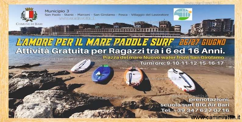 L AMORE PER IL MARE PADDLE SURF