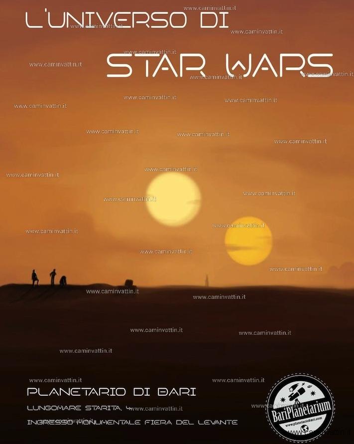 luniverso di star wars planetario bari