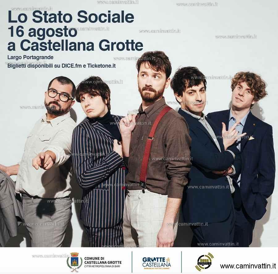 LO STATO SOCIALE in concerto a Castellana Grotte
