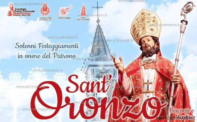 festa patronale sant oronzo turi 2021