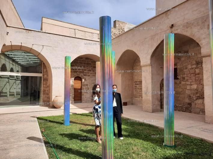 IL SOLE E NUOVO OGNI GIORNO mostra di Giuliana Storino nel museo archeologico di Santa Scolastica