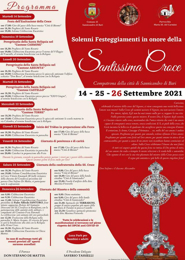 festa santissima croce 2021 sannicandro bari