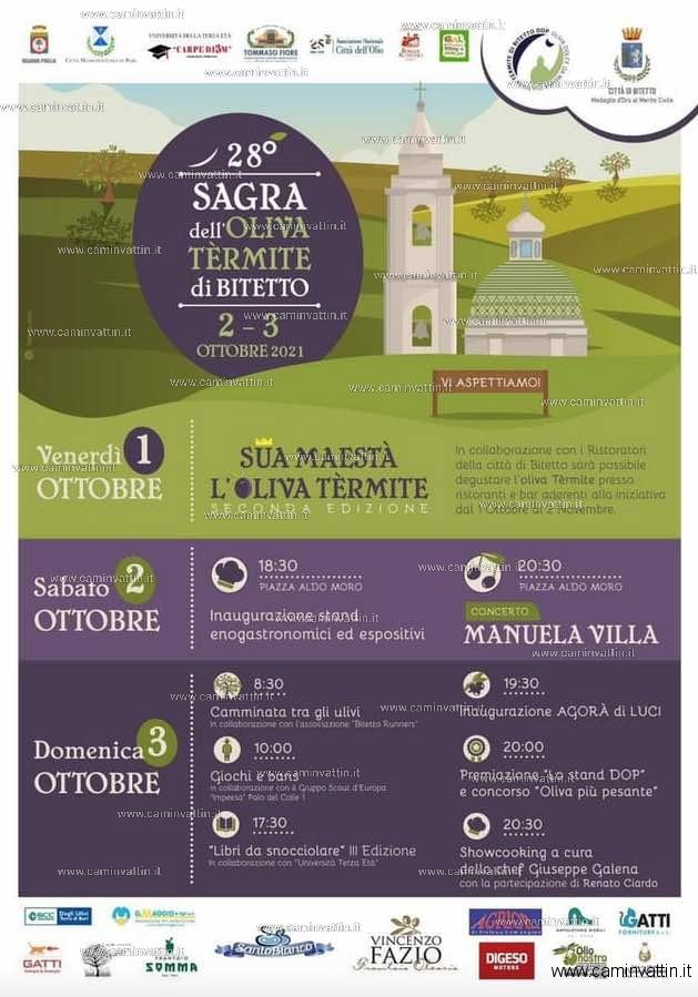 sagra oliva termite 2021 bitetto