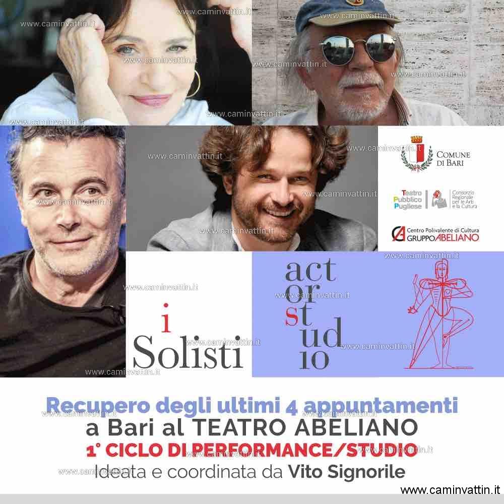 Carmela Vincenti, Paolo Sassanelli, Vito Signorile e Flavio Albanese al teatro Abeliano