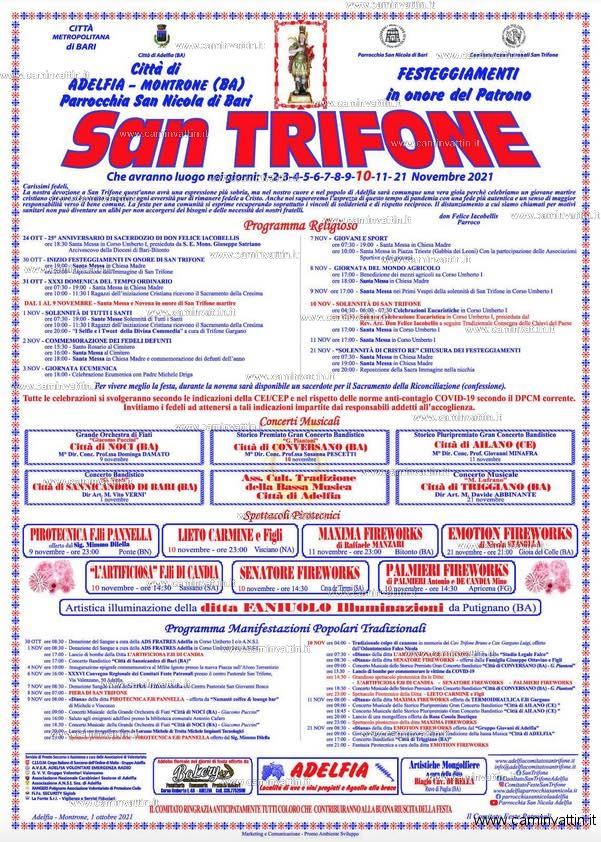 festa san trifone 2021 adelfia